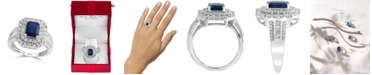 EFFY Collection EFFY® Sapphire (1 1/2 ct. t.w) and Diamond (1/2 ct. t.w) Ring in 14K White Gold (Also Available In Tanzanite)